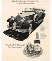 1971 HIRAM WALKER De Luxe Bourbon Whiskey 1931 Packard Phaeton Vtg Print Ad