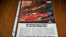 Depend Classic Vintage Advertisement Ad D73 1973 Dodge Charger Rallye
