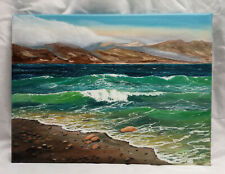 Ölgemälde, Strandlandschaft, Meer, Seestück, signiert