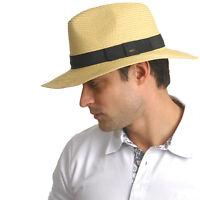 New Unisex Fedora Panama Wide Brim Trilby Straw Cap Sun Hat Beach Summer Sunhat