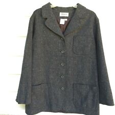 VTG WOMENS WOOL TWEED JACKET COAT ELEMENTS EXCLUSIVELY SPIEGEL SIZE 12 MADE USA