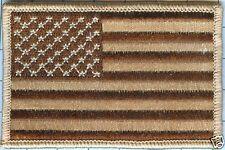 "American Flag Patch - Star Field Left, Desert Sand 3 1/2"" X 2 1/4"""