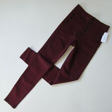 NWT J Brand Natasha in Coated Oxblood Sky High Skinny Stretch Jeans 29 $278