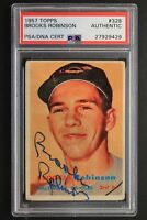 Brooks Robinson HOF 1957 Topps #328 Signed Autographed Rookie Card PSA