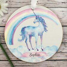 Unicorn name wall hanging / Childrens unicorn bedroom decor / Christening gift