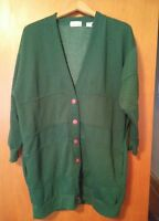 000 VTG Women's Classic Expressions 18W Green Button Up Sweat Shirt Jacket