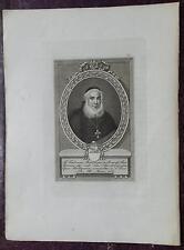 """1850 Ritratto di """"Mons Federico Bencivenni Vesc Bertinoro Sarsina Cap Pr Bologna"""