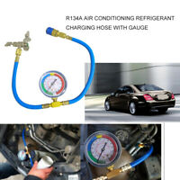 R134A Car Air Conditioning A/C Refrigerant Charging Recharge Hose Pipe W/ Gauge