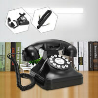 Black Vintage Retro Antique Phone Wired Corded Landline Telephone Home Office