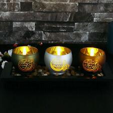 More details for 3 quls islamic candle holder led decor eid ramadan mubarak home ornament gift