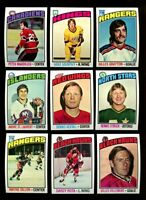 1976 TOPPS HOCKEY PARTIAL SET 210 DIFFERENT HIGH GRADE MINT *INV6430