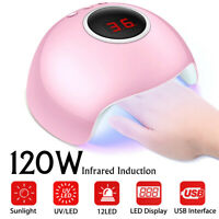 Professional 120W UV/Sunlight Nail Dryer Lamp Gel Polish Curing Machine For Gift