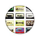 Badge CASSETTES RETRO K7 Tape pop hipster hypster bohème boho vintage pins Ø25mm