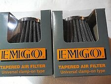 2 filters Pod air filter 52MM CB400 KZ400 GS400 SR500 XT500 12-55752
