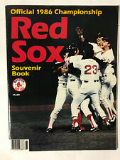 1986 Official Boston Red Sox Championship Souvenir Book in Excellent Condition