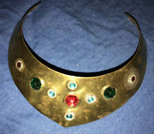 One Of A Kind ROYAL COSTUME JEWELED COLLAR ~ Brass And Glass Reflector Gems