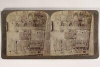 Egitto Tebe Regina Makere Archeologia Foto Stereo Vintage Citrato 1904