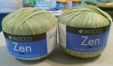 Berroco Zen ribbon  yarn green