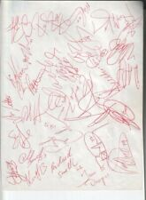 1992 Buffalo Sabres Autographed Page by 29 w/ Dominick Hasek