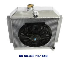"for 49-52 Plymouth Chrysler Coupe Sedan 6CYL 3 Row Performance RADIATOR+14""Fan"