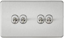 VITI 10A 4G Gang 2 Way Toggle Switch-Cromo Spazzolato