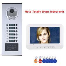 10 Apartment/Family Video Door Phone Intercom System