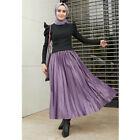 2021 Fashion Women Long Skirt Summer High Waist Solid Pleated Elastic Maxi Skirt