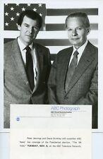 PETER JENNINGS DAVID BRINKLEY PORTRAIT THE '84 VOTE ORIGINAL 1984 ABC TV PHOTO