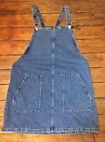Topshop Moto Blue Denim Pinafore Dress Size 10 Women's. Defects Ad91