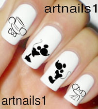 Disney Nails Wedding Nail Art Water Decals Stickers Manicure Salon Mani Polish
