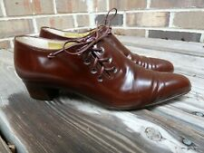 WALTER STEIGER Booties 7AA Brown Leather Made in Italy Designer