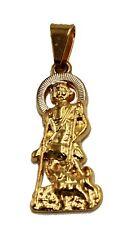 San Lazaro Cuba Babalu Aye with 20 inch Chain 18k Gold Plated - San Lazaro Charm