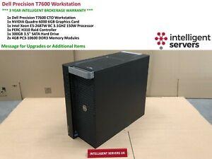 Dell T7600 Workstation, Intel E5-2687W, H310, 8GB DDR3, 300GB HDD, Quadro 6000