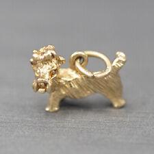 Shih Tzu Solid Gold 14k Charm Pendant