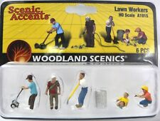 HO Scale Model Railroad Trains Woodland Scenics Lawn Worker People Figures 1915