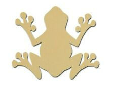 Frog Shape Unfinished Wood MDF Craft Cut Out Variety of Sizes Style #1