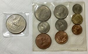 1953 9 COIN SET & 1953 5 SHILLINGS COIN