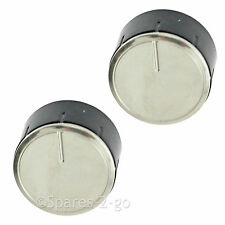 Control Knob Switch Button Dial for BOSCH Cooker Oven Hob Silver Black 2 x Knobs
