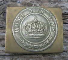 GERMAN BUCKLE 'Gott Mit Uns' [Original] (1870)