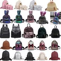 Fashion Lady Girl Backpack School Book Bags Satchel Shoulder Travel Rucksack Lot