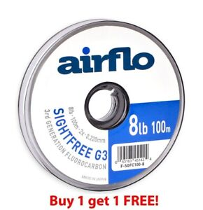 Airflo G3 Sightfree Flurocarbon 100m (Buy One Get One Free) ** 2021 Stocks ***