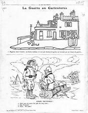 Caricature Propagande Anti Allemagne Pickelhaube Casque à pointe Poux 1915 WWI