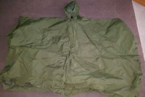 GENUINE BRITISH ARMY ISSUED 58 PATTERN GREEN PONCHO / FIELD SHELTER