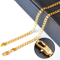18k Yellow Gold Men's Cuban Wide 6mm Link Chain Necklace w GiftPkg D293G