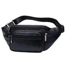 Leather Fanny Pack Waist Bag for Men Women Hip Bum Belt Slim Purse Wallet Pouch