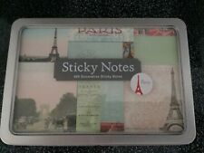 Paris Post It Notes - 480 notes - 6 Designs NEW in Tin by Cavallini & Co