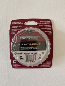 Spiderwire SCS8G-125 Stealth Braid 125-Yard/8-Pound, Moss Green