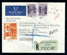 Ecuador - 1950s Registered Airmail Cover to London