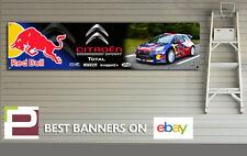 CITROEN DS3 Red Bull Rally Coche Bandera para taller, garaje, PVC Banner