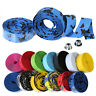Handlebar Tape Bicycle Mountain Road Bike Cork Grip Wrap Tape Handle Bar & Plugs